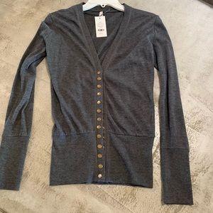 New Downeast Charcoal long sleeve cardigan